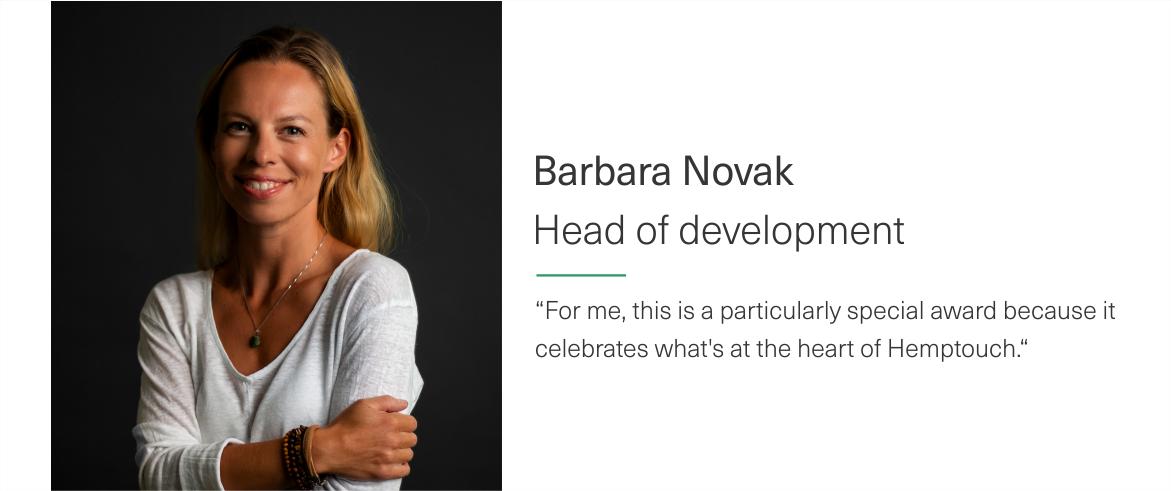 Hemptouch_Barbara_Novak innovation award